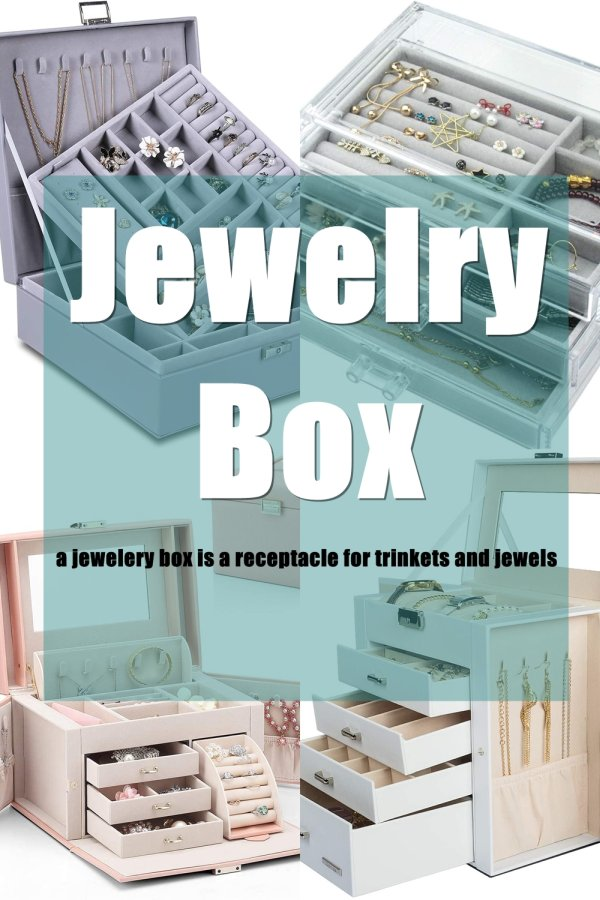 Basically A Jewelry Box Is A Container To Put Jewelry Safe And Secure. They Come In Many Different Materials And Design To Match Your Personality And Also Act As Part Of Your Room Decoration In General.