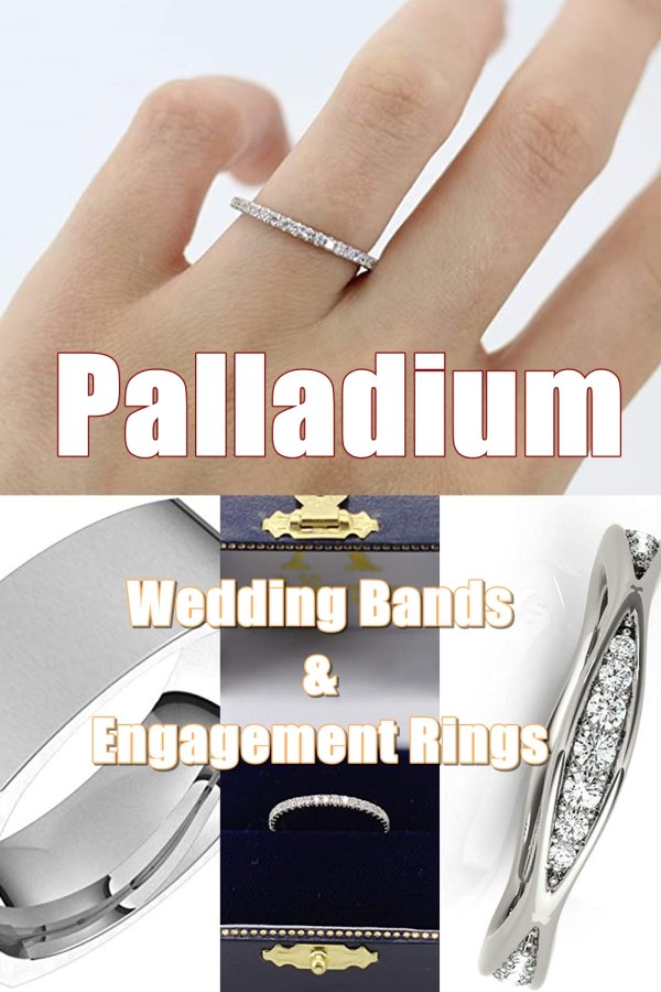 The Durability Of Palladium Is Similar To Platinum And It's Also Naturally White Unlike White Gold.
