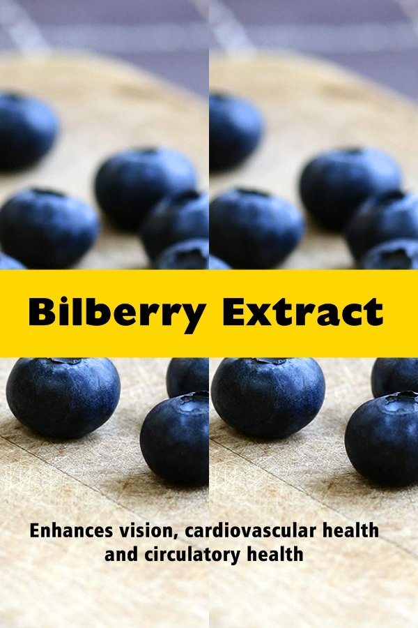 Bilberry Extract Is Taken From The Vaccinium Myrtillus, Or Bilberry, A Small Blue Berry That Has Been Used Traditionally For The Treatment Of Conditions Now Known To Be Due To Inflammation And The Action Of Free Radicals On The Body.