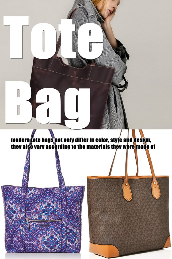 Modern Tote Bags Not Only Differ In Color, Style And Design, They Also Vary According To The Materials They Were Made Of. You Can Find Ones That Are Made From Leather; Some Are Made Of Canvas And Others Come In Denim. Also, You Can Find Today's Very Stylish Touch Of Design Of Totes That Can Be Customize.